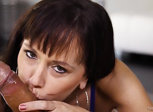 Amazing Blowjobs Newcomer disabuse of Moistness Darkhaired - baneful prickle