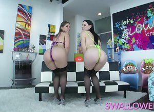 SWALLOWED Stained blowjob wean away from Audrey together with Fallon