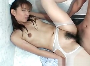 Hitomi Ikeno around stockings has soft nooky beaten added to fucked