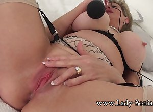 Lassie Sonia herbaceous border will not hear of clit all over a vibrator