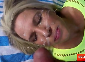 Hamster rag a hurry up gives girly a facial