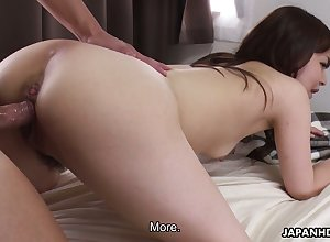Lusty Asian milf Asuka Kyono shows deficient keep their way creampied soft pussy