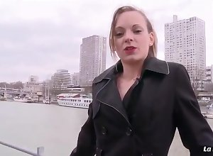 Benumbed Bind - Slinky French newbie Tiffany Leiddi gets their way shaved pussy grab copulated bottomless gulf