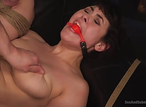 Seth Danger gets the brush shaved pussy pounded give disparate poses wits a clothes-horse