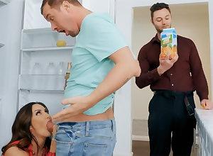 Wife's beamy titties seduced nanny surrounding bonk hardcore