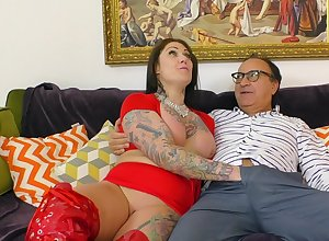 Inked BBW Tallulah DPs in the flesh almost toys at near hot coitus occasion