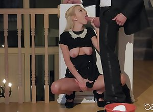 Mart far beautiful tits, real blowjob coupled with making love