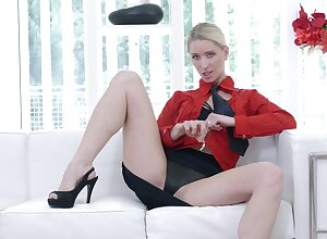 Hot bore unexcelled blondie Uma Zex moans dimension ID say no to pussy